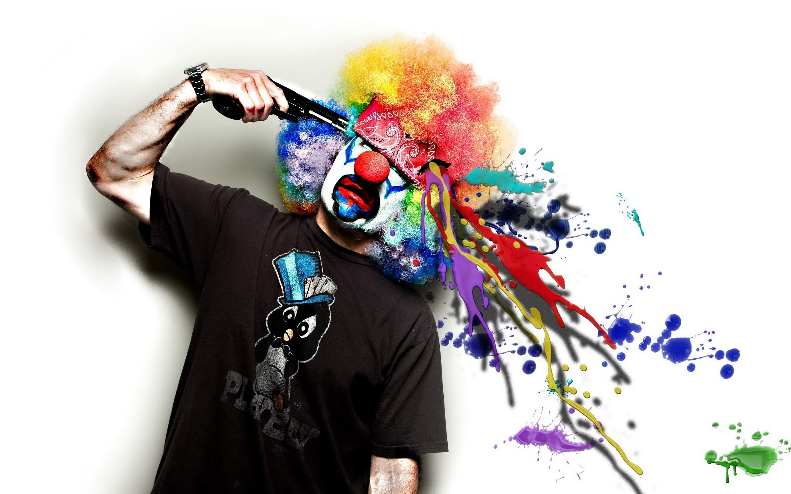 Arma di pistole Paint Barrel Clown - Sfondi per il desktop