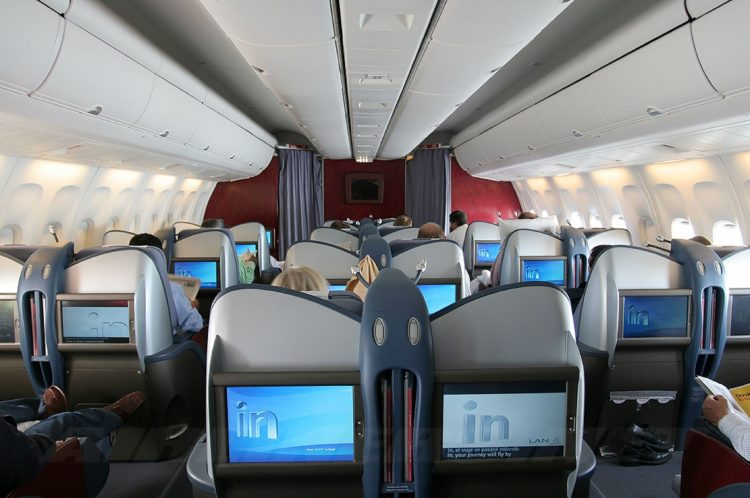 Wallpaper Interno di Boeing 767