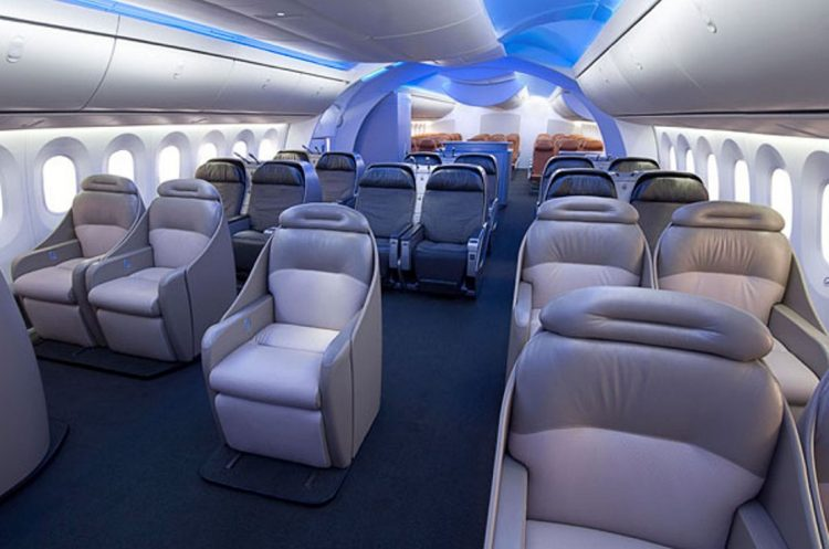 Wallpaper Interno di Boeing 787