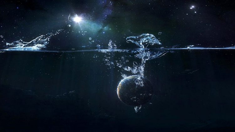 Water Earth Abstract Space
