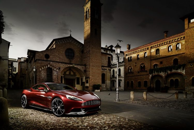 Aston Martin House of 2012 Vanquish Red Lights